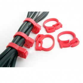 Cable Clips 6pcs - CC-901 - Red