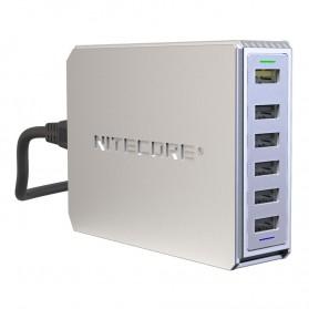 NITECORE Charger USB 6 Port 2A Quick Charge 3.0 - UA66Q - White - 2