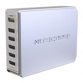 NITECORE Charger USB 6 Port 2A Quick Charge 3.0 - UA66Q - White - 3