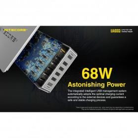 NITECORE Charger USB 6 Port 2A Quick Charge 3.0 - UA66Q - White - 6