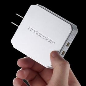 NITECORE Charger USB 2 Port 3A Quick Charge 3.0 - UA42Q - Silver - 5
