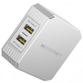 NITECORE Charger USB 2 Port 3A Quick Charge 3.0 - UA42Q - Silver - 6
