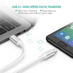 Ugreen Kabel Data USB Type C 3.1 Male to Male Multifungsi 1 Meter - White - 3