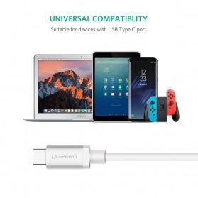 Ugreen Kabel Data USB Type C 3.1 Male to Male Multifungsi 1 Meter - White - 6