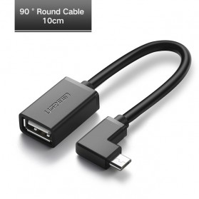 UGreen Micro USB OTG Adapter L Shape Cable - Black