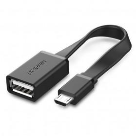 UGREEN Kabel Micro USB OTG Flat Style 10 CM - Black