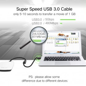 UGREEN Kabel USB 3.0 Ekstension Male to Female 1 Meter - US129 - Black - 4