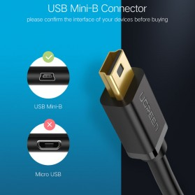 UGREEN Kabel USB Male ke Mini USB Male 1 Meter - US132 - Black - 2