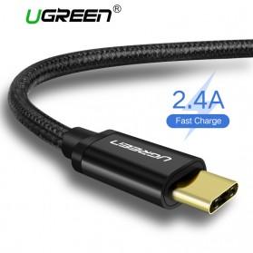 UGREEN Kabel Charger USB Type C 2.0 Nylon Braided 1.5 Meter - US174 - Black - 2