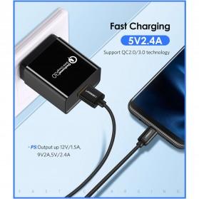 UGREEN Kabel Charger USB Type C 2.0 Nylon Braided 1.5 Meter - US174 - Black - 3