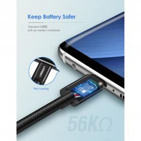 UGREEN Kabel Charger USB Type C 2.0 Nylon Braided 1.5 Meter - US174 - Black - 5