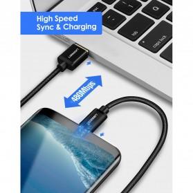 UGREEN Kabel Charger USB Type C 2.0 Nylon Braided 1.5 Meter - US174 - Black - 6
