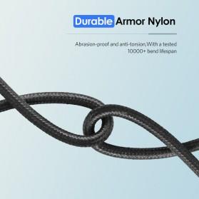 UGREEN Kabel Charger USB Type C 2.0 Nylon Braided 1.5 Meter - US174 - Black - 9