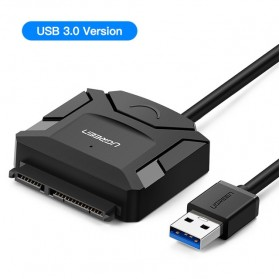 UGREEN Kabel Adapter USB 3.0 to SATA for 3.5 / 2.5 Inch HDD SSD - CR108 - Black