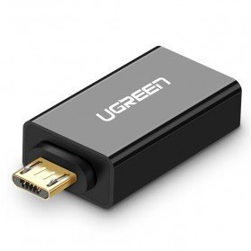 UGREEN OTG Adapter Converter Micro USB to USB - US195 - Black