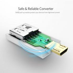 UGREEN OTG Adapter Converter Micro USB to USB - US195 - Black - 3