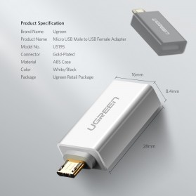 UGREEN OTG Adapter Converter Micro USB to USB - US195 - Black - 7