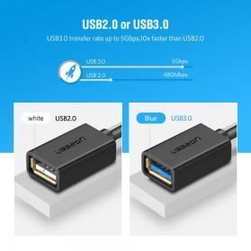UGREEN Kabel USB Type C 3.0 OTG Round Style 13 CM - US154 - Black - 4