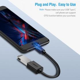 UGREEN Kabel USB Type C 3.0 OTG Round Style 13 CM - US154 - Black - 5
