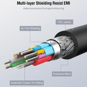 UGREEN Kabel USB Type C 3.0 OTG Round Style 13 CM - US154 - Black - 7