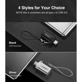 UGREEN Keychain OTG Adapter USB Type C 3.0 - US270 - Black - 2