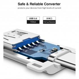 UGREEN Keychain OTG Adapter USB Type C 3.0 - US270 - Black - 5