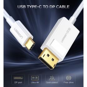 UGREEN Kabel USB Type C to Display Port 4K 1.5 Meter - MM139 - White - 2