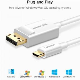 UGREEN Kabel USB Type C to Display Port 4K 1.5 Meter - MM139 - White - 6