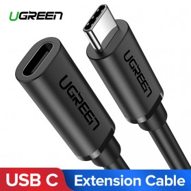 UGREEN Kabel Ekstension USB Type C Male ke USB Type C Female 50CM - ED008 - Black