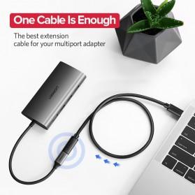 UGREEN Kabel Ekstension USB Type C Male ke USB Type C Female 50CM - ED008 - Black - 2