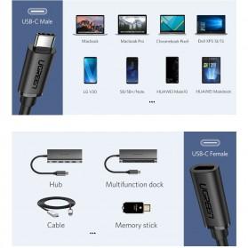 UGREEN Kabel Ekstension USB Type C Male ke USB Type C Female 50CM - ED008 - Black - 8