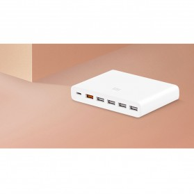 Xiaomi USB Charging Station USB Type C + Type A 6 Port QC3.0 60W - White - 4
