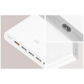 Xiaomi USB Charging Station USB Type C + Type A 6 Port QC3.0 60W - White - 7