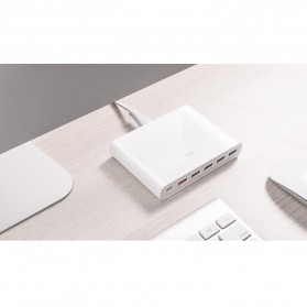 Xiaomi USB Charging Station USB Type C + Type A 6 Port QC3.0 60W - White - 9