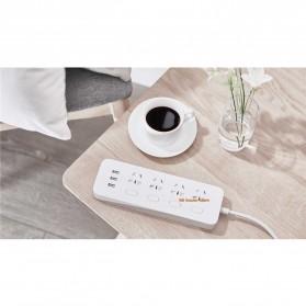 Xiaomi Mijia Smart Power Strip Stop Kontak 4 Electric Plug + 3 Port USB 5V 2.1A Fast Charging - White - 15