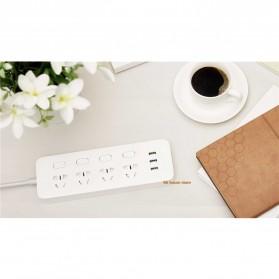 Xiaomi Mijia Smart Power Strip Stop Kontak 4 Electric Plug + 3 Port USB 5V 2.1A Fast Charging - White - 16