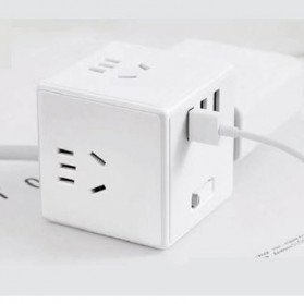 Xiaomi Mijia Rubik Power Socket Plug + 3 Port USB 2.4A (Wired Version) - MJCXB3-02QM - White