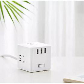Xiaomi Mijia Rubik Power Socket Plug + 3 Port USB 2.4A (Wired Version) - MJCXB3-02QM - White - 3