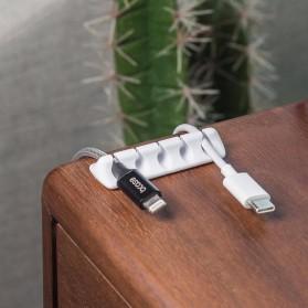 Xiaomi Bcase Klip Kabel Silicone Cable Clip Organizer - DSHJ-B-1991 - Black - 3