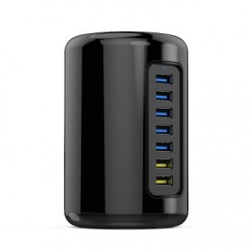 Orico Mac Style USB 3.0 High Speed HUB 5 Port and 2 Charging Port - RH7C2 - Black