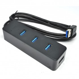Orico Ultra Mini USB 3.0 High Speed HUB 4 Port 3.3 Ft Cable - W5PH4-3S - Black