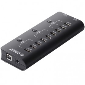 Orico USB 2.0 High Speed HUB 9 Port + 2 Charging Port - HF9US-2P - Black
