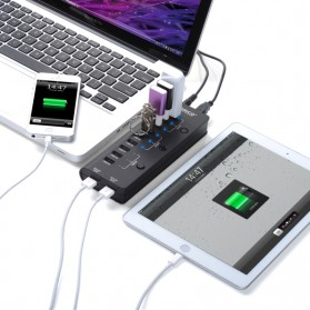 Orico USB 2.0 High Speed HUB 9 Port + 2 Charging Port - HF9US-2P - Black - 4