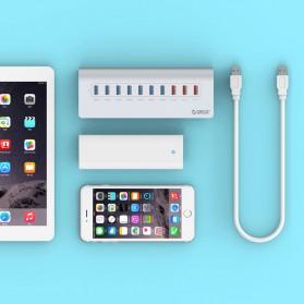 Orico Aluminium USB 3.0 High Speed HUB 7 Port + 3 Charging Port - M3H73P - Silver - 5