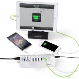 Orico Aluminium USB 3.0 High Speed HUB 7 Port + 3 Charging Port - M3H73P - Silver - 6