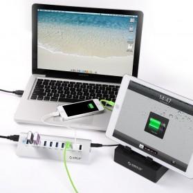 Orico Aluminium USB 3.0 High Speed HUB 7 Port + 3 Charging Port - M3H73P - Silver - 7