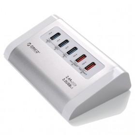 Orico Aluminium USB 3.0 High Speed HUB 3 Port + 2 Charging Port - UH3C2 - Silver - 2