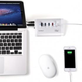 Orico Aluminium USB 3.0 High Speed HUB 3 Port + 2 Charging Port - UH3C2 - Silver - 5