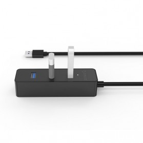 Orico Ultra Mini USB 3.0 High Speed HUB 4 Port 30CM Cable - W5PH4-U3 - Black - 2