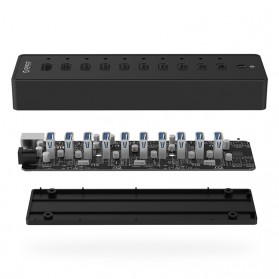 ORICO 10 Port USB 3.0 HUB with 1M USB 3.0 Cable - P10-U3 - Black - 4